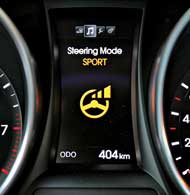 Рулевое управление Flex Steer с тремя режимами входит вбазовое оснащение. Наиболее легкий руль – вComfort, максимально информативный – в Sport.