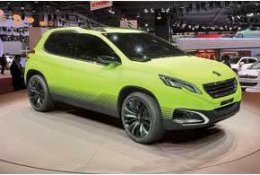 Концепт Peugeot2008– предвестник нового компактного кроссовера, который дебютирует вЖеневе, а в конце 2013-го появится в Украине.