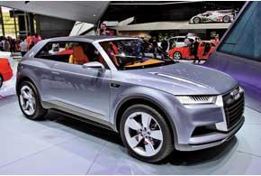 Концепт Audi CrossLane Coupe оснащен 1,5-литровым TFSI идвумя электромоторами.
