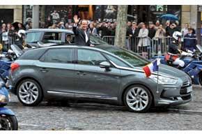 Нынешний президент Франсуа Олланд использует специальную версию Citroёn DS5 со сдвижным верхом.