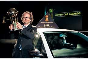 Жюри конкурса World Car ofTheYear в этом году присудило главный приз малолитражке VW up!. Награду вручили шеф-дизайнеру Оливеру Стефани.