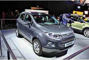 Созданный на базе Fiesta компактный кроссовер EcoSport  оснаcтят 1,0-литровым турбированным мотором EcoBoost.
