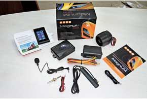 По функционалу современные охранные системы с GSM-cвязью ничем не отличаются отпремиум-моделей с обычным радиобрелоком двусторонней связи. Кстати, такой брелок также входит в наш комплект.
