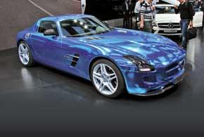 Суперкар Mercedes-Benz SLS AMG Coupe Electric Drive
