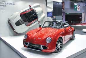 PGO Cevennes – среднемоторный французский репликар, напоминающий Porsche 356. Родстер оснащен 184-сильным 1,6-литровым турбированным мотором Peugeot и 6-ступенчатой «механикой».