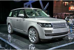 Range Rover нового поколения – первый вмире внедорожник с несущим алюминиевым кузовом.