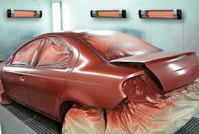 Инфракрасные обогреватели идеально подходят длязонального обогрева при сушке окрашенных поверхностей, перед шпаклевочными работами ит. д.