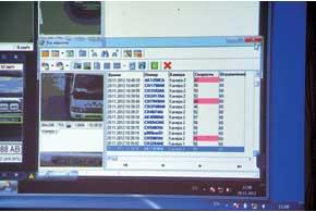 «Оберіг» в режиме онлайн следит за движущимися транспортными средствами и считывает их номера, формируя при этом базы данных авто, проехавших зону контроля, и стоп-кадров зафиксированных нарушений ПДД.