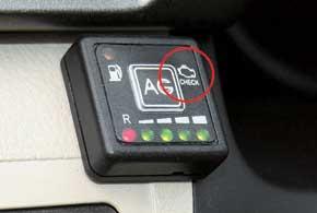 Кнопка ЭБУ Zenit-Pro имеет индикаторнеисправности.