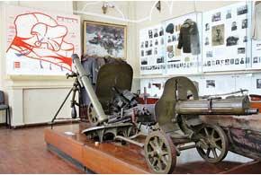 Экспозиция музея воссоздает историю Корсунь-Шевченковской битвы.