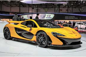 Нескромный McLaren P1 – как по цене ($1,5 млн.), так и по динамике (7 с до200 км/ч) и мощности (900 л. с.).