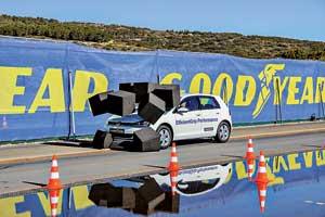 38 км/ч – cредняя скорость авто с китайской шиной в момент остановки авто спокрышкой EfficientGrip Performance. Это скорость, на которой также происходят серьезныеДТП.