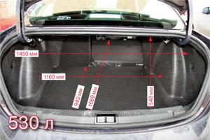 Багажник большой, при необходимости можно откинуть спинки. Среди минусов –  открытые петли,  съедающие часть пространства, и отсутствие ручки закрывания.