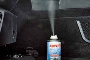 Спрей-очиститель для легкого самостоятельного использования Hygiene Spray торговой марки Loctite немецкой компании Henkel.
