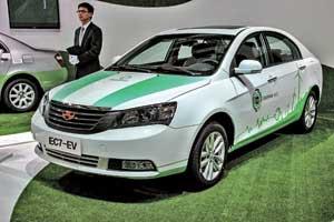 Электромобиль Geely Emgrand EC7-EV – совместное детище инженеров компании и американцев из Detroit Electric.
