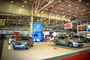 Большая экспозиция выставки была отдана победителям конкурса «Автомобиль года вУкраине».