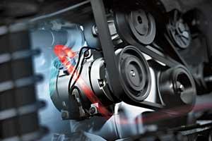 Ослабленный приводной ремень компрессора  часто способствует преждевременной  поломке предохранительного демпфирующего шкива.