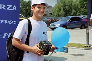 Видеорегистратор Mystery получил Роман Лещук – как самый молодой участник полуфинала.
