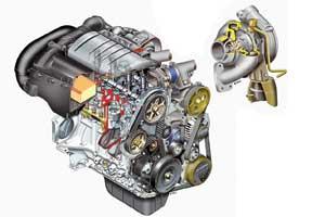 В дизелях e-HDi иная конструкция впускного тракта исистемы смазки турбокомпрессора, усиленные ТНВД, подшипники коленвала имаховик.