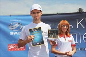 Видеорегистратор Mystery получилсамый молодой участник заезда– Михаил Ермоленко.