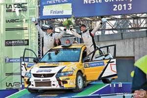 Тарас Кравченко/Юрий Кузьминов – первые украинцы, увезшие призы с финского этапа WRC.