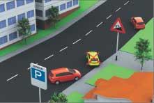 Рис. 11. У тротуаров или иных мест с пешеходным движением ставить ТС под углом разрешается только передней частью, а на подъемах – только задней частью, если это не будет мешать другим ТС.