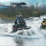 Карпатский рейд. Любая из моделей BRP легко форсирует горные реки.