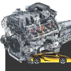 На Lamborghini Gallardo мотор V10 развивает 500 л. с. и 510 Нм крутящего момента. Для Audi S8 этот двигатель серьезно доработали.