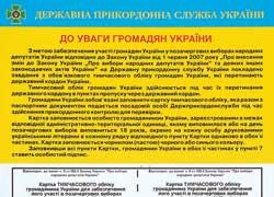 Заполнить карточку временного учета избирателей помогут специальные образцы на пропускном пункте.