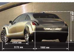 Дизайн прототипа выполнен в футуристическом стиле Aqua Dynamic и по компоновке напоминает седан-купе CLS