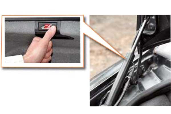 Крышка багажника дорогих версий оснащена так называемым микролифтом открытия/закрытия, вкотором современем выходит изстроя насос гидропривода.