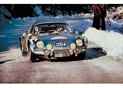 Первый этап Чемпионата мира (Rallye Monte-Carlo, 1973 г.) выиграл Жан-Клод Андрюэ на Alpine A110.