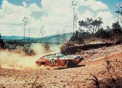«Японцы» в 70-е могли рассчитывать на успех лишь в африканских ралли, где важнее всего была надежность. Datsun 260, Safari Rally 1975 г.