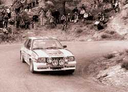 Сезон-1982 стал последним, когда титул выиграл монопри-водный ралликар с атмосферным мотором. На фото – двукратный чемпион мира Вальтер Рерль на Opel Ascona 400.