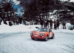 В 70-х Porsche 911 побеждал и в кроссе, и на кольце, и в горных гонках, и в ралли. Rallye Monte- Сarlo 1970 г.