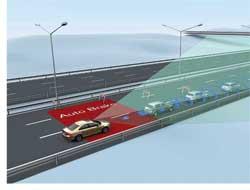 Volvo Cars представляет систему, которая поможет избежать столкновения с автомобилями и пешеходами на низкой скорости. Если в местах с замедленным транспортным потоком машине грозит опасность, аводитель своевременно не реагирует, активируется система «Безопасность в городе», и автомобиль тормозит самостоятельно. Вслучае неожиданного торможения впереди идущего ТС система Volvo поможет водителю избежать аварии благодаря более эффективному торможению или объезду.