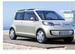 На проходящем в Лос-Анджелесе автосалоне компания Volkswagen представила экологически чистый концепт-кар space up! blue