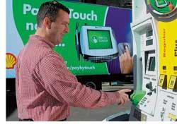Концерн Shell внедрил на некоторых заправочных станциях в Чикаго технологию pay-by-touch. При оплате приобретенного топлива просто сканируется отпечаток пальца водителя, который пользуется системой eCheck (непосредственная оплата с текущего счета водителя)
