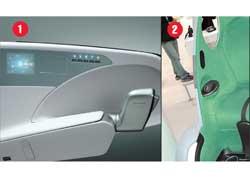 Вместо привычных руля и педалей в этих машинах новые органы управления: джойстики у Toyota 1 и подобия компьютерной мышки у Suzuki 2.