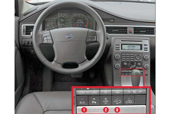 Дизайн интерьера не содержит намеков на внедорожный характер модели. Торпедо такое же, как у Volvo S80.