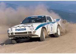 Высшее достижение РПД в ралли: «бронза» заводской Mazda RX-7 в греческом ралли «Акрополис» 1985 года.