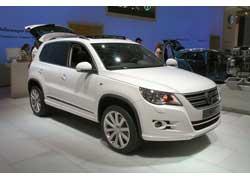 Новейший кроссовер VW Tiguan получил обвес в своем фирменном дизайн-центре.