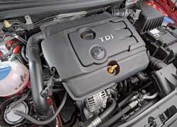 Особенность дизельного 1,9 TDI – широкая полка максимального крутящего момента. Его пик начинается с 1800 об/мин и идет на спад после 2200 об/мин.