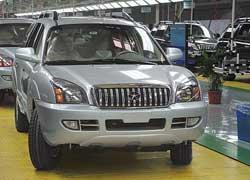 Первая продукция легкового подразделения JAC – внедорожник Rein и седан Binyue.