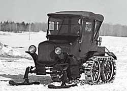Ford T служил базой Жозефу-Арману Бомбардье для постройки первых снегоходов.