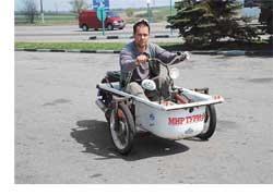 Одессит Роман Билык создал шедевр– ванну на колесах.