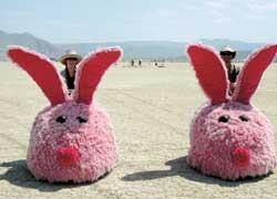 Гигантские розовые тапочки – творение калифорнийца Грега Солберга (Greg Solberg), инженера компании Tesla Motors, выпускающей электромобили.