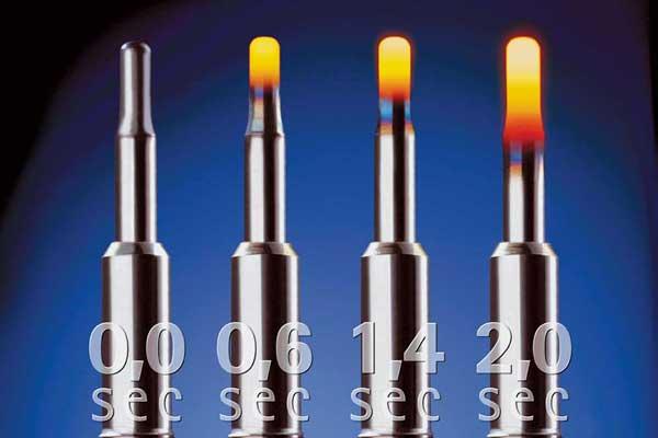 В современном дизеле исправная свеча с нормально работающим блоком управления разогревается до рабочей температуры за несколько секунд.