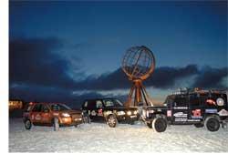 В конце января в Киев вернулись участники экспедиции к самой северной точке Европы, мысу Нордкап (Норвегия). Пробег проводился на трех автомобилях Land Rover (Defender 110, Freelander 2 и Range Rover).