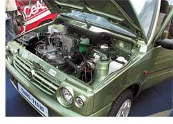 В связи с введением 1 января в России экологических норм Евро3 автомобиль «Ока» получил более «чистый» двигатель. Специально для серпуховской малолитражки китайская компания Tian Jin FAW доработала свой мотор под Евро3. СеАЗ-11116